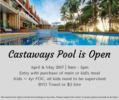 Our pool is open to the public for April & May!