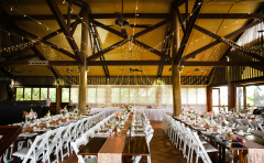 Millers Beach Bar and Grill set for a Wedding